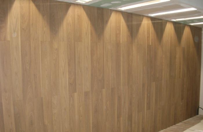 laminates on the wall